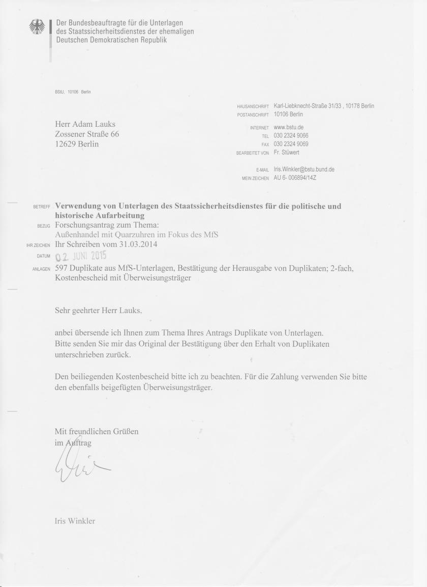 """Außhandel der DDR im Fokus des MfS  - Operativ-Vorgamg """"Merkur""""  oder Jugoslawische Quarzconnection"""