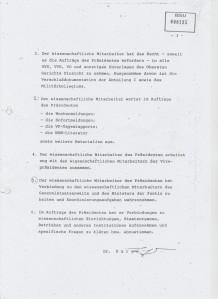 Die Aufgaben des Wissenschaftlichen Mitarbeiter der. Präsidenten Töpliz und Dr.Sarge